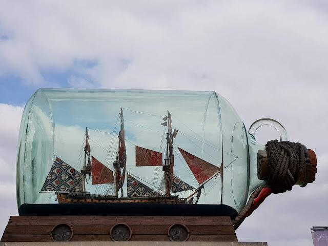 Nelson's Ship in a botle by Yinka Shonibare- belayat masum
