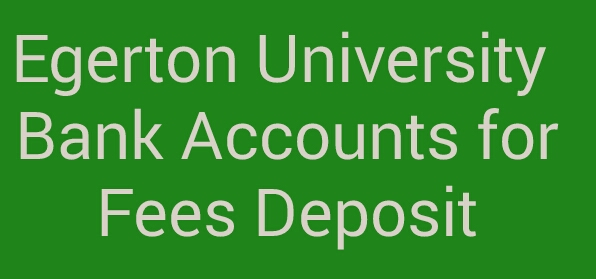 Egerton university bank accounts