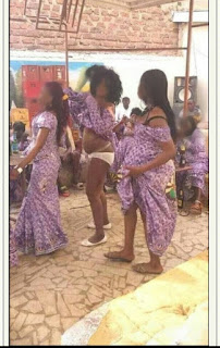 Woman Pulls Her Dress, Shows Her Panties After Getting High At An Event (Photo)