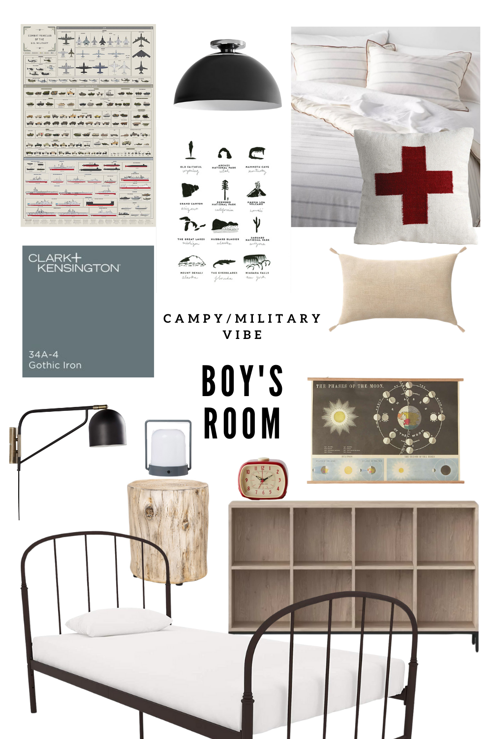 Dax's Camp-y, Military-Inspired Big Boy Room Mood Board