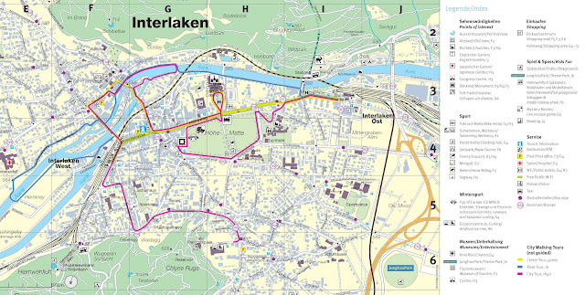 Mapa de Interlaken - pueblo
