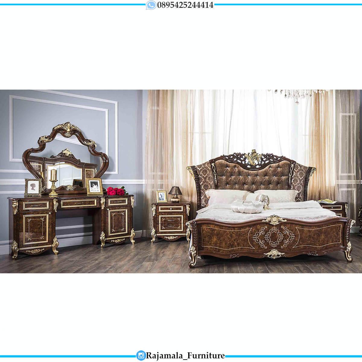 Desain Tempat Tidur Mewah Kayu Jati Luxury Carving Jepara RM-0700