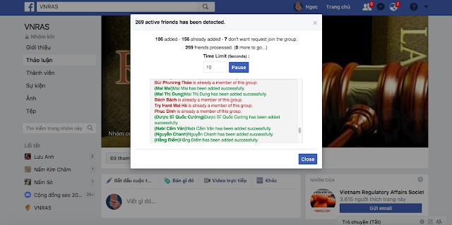 thêm bạn bè vào group facebook
