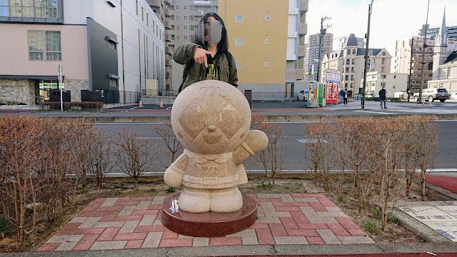 宮城県仙台市 メロンパンナ像