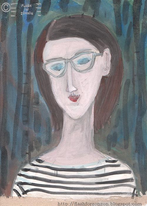 Amadeo Modigliani -style Selfie