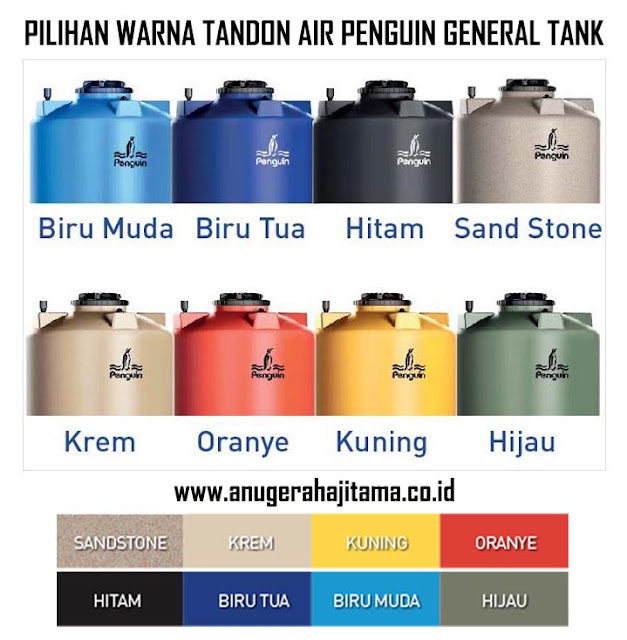 Pilihan Warna Tandon Air Penguin