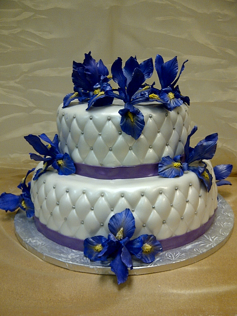 Cakes By Allie Purple Iris Cake