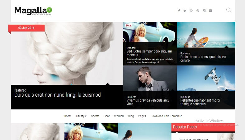 Download - Magalla - Responsive News/Magazine Blogger Template