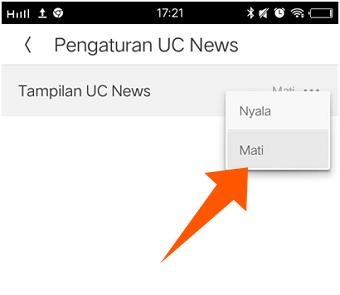 Cara Menghapus UC News di UC Browser Versi Terbaru