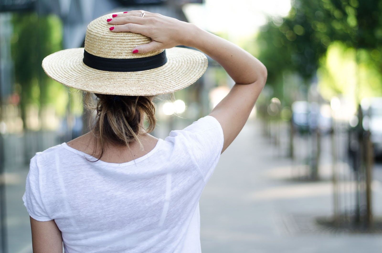 french connection straw hat