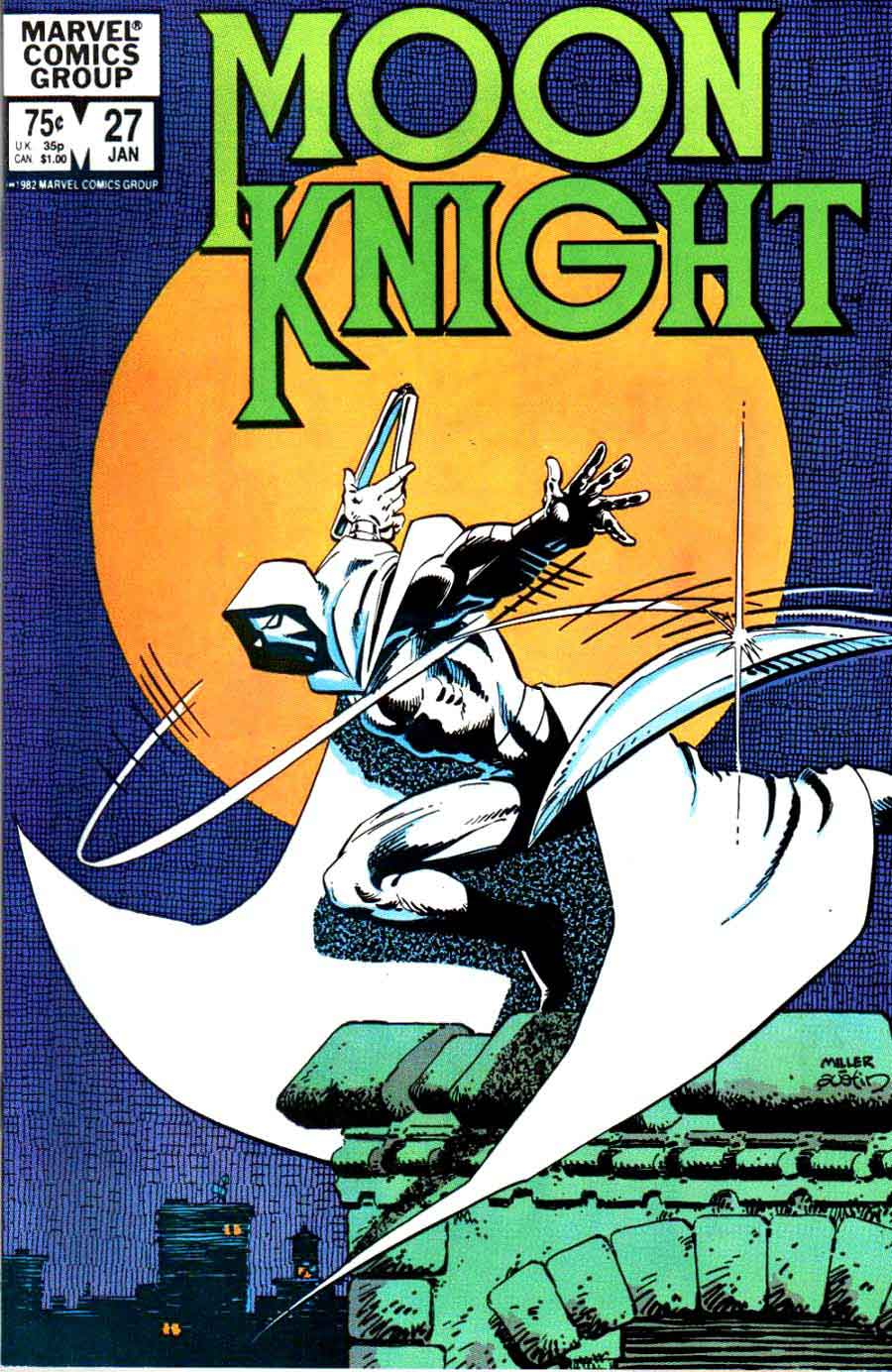 Moon Knight 27 Frank Miller Cover Pencil Ink