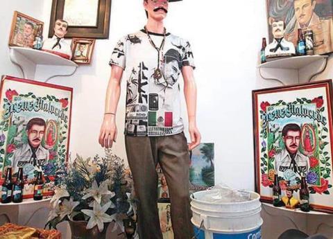 """Jesús Malverde, el santo de los narcos, aparece en el juicio de """"El Chapo"""""""