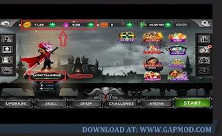 Download Stickman Legends: Ninja Warrior v2.4.47 MOD One Hit | God Mode | RemoveADS