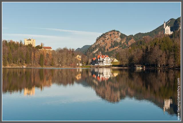 Lago Alpsee y Castillos Baviera (Alemania)