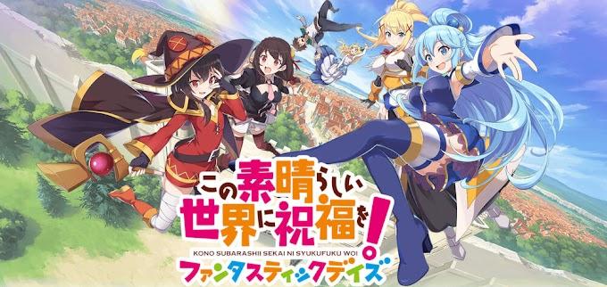 """O jogo para smartphone """"KonoSuba Fantastic Days""""  será lançado mundialmente em 19 de Agosto"""