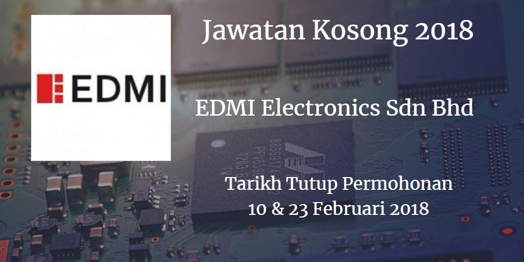Jawatan Kosong EDMI Electronics Sdn. Bhd Februari 2018