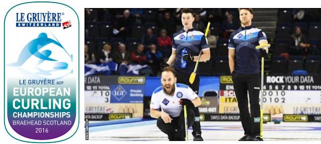 CURLING - Campeonato de Europa masculino 2016 (Braehead, Escocia): Suecia conquista su tercer europeo consecutivo