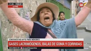 """El desgarrador grito de una mujer: """"Yo muero por Bolivia, mátenme"""""""