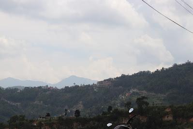 Dhulikhel City as seen from Rabi village