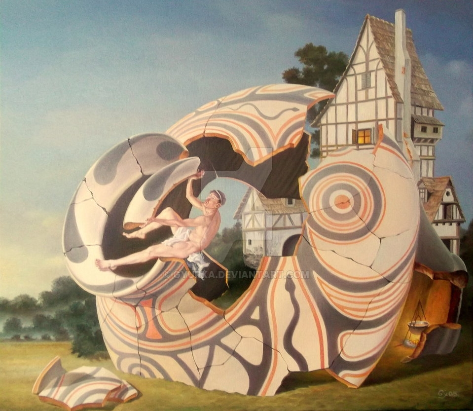 11-Restoring-The-Past-Gyuri-Lohmuller-Complex-Surreal-Paintings-that-make-you-Think-www-designstack-co