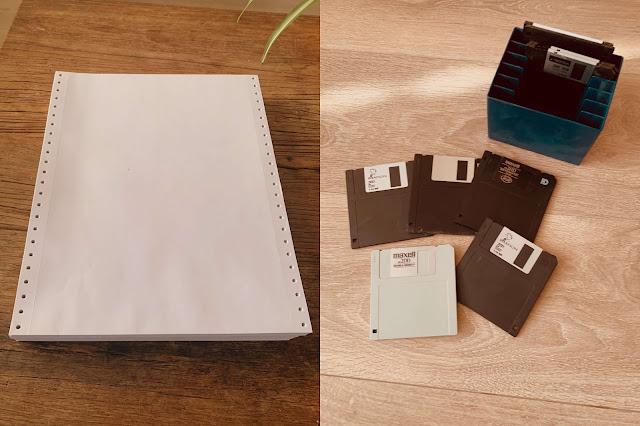 Nineties Floppydisk Kettingpapier