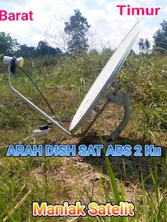 ARAH PARABOLA /DISH SATELIT ABS2 KU BAND