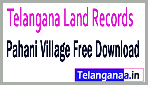 Telangana TS State Land Records Village Map Download Online