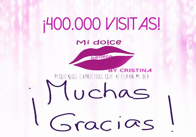 400.000 visitas en mi dolce belleza