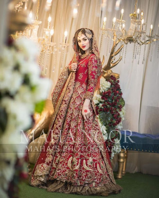 Actress Mashal Khan Incridible Bridal Photo Shoot
