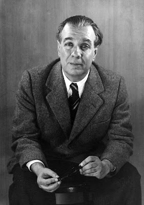 Jorge Luis Borges fotografiado por Grete Stern