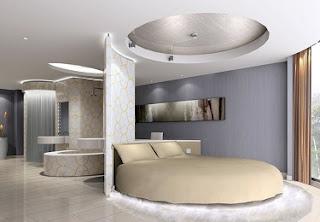 habitación moderna cama redonda