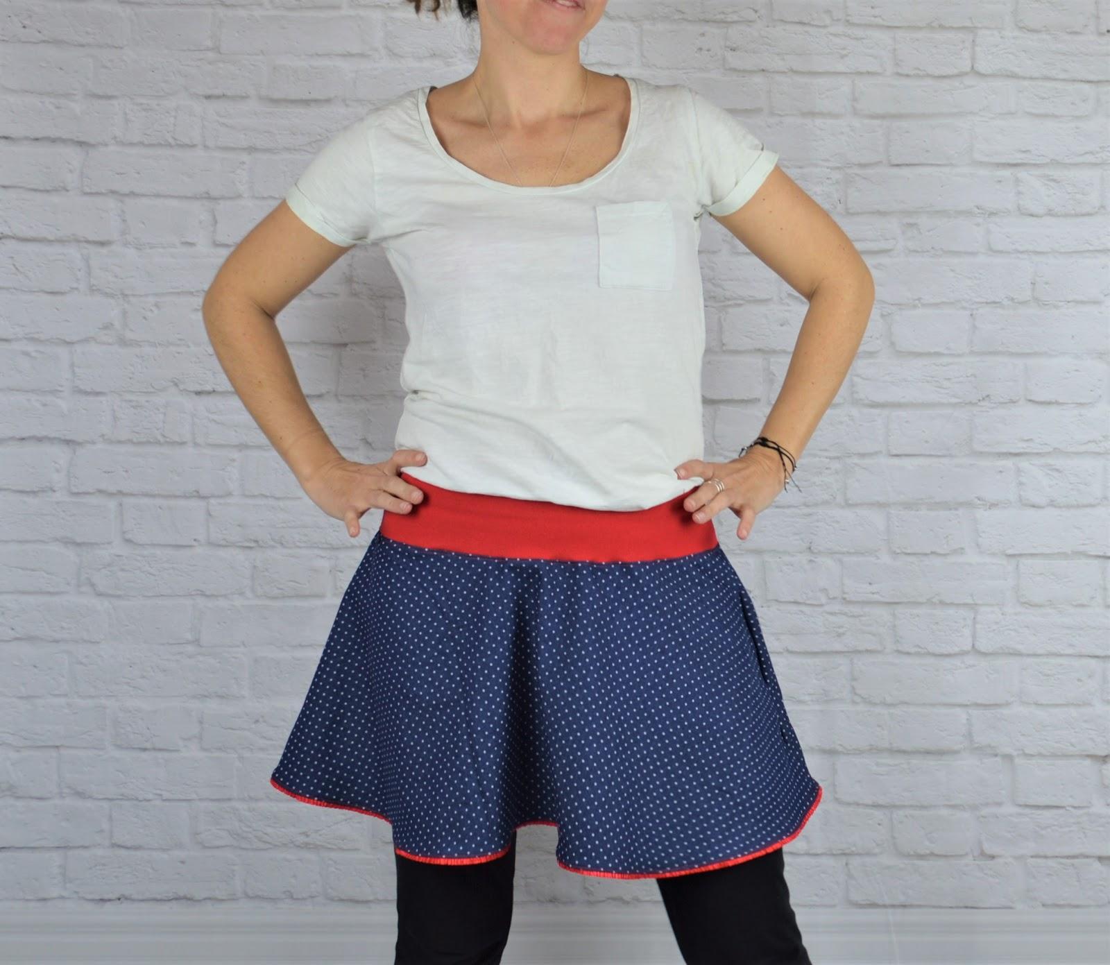 falda de vuelo mujer hecha a mano por uve original
