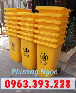 Thùng rác nhựa 240 lít nắp kín,thùng rác 2 bánh xe nhựa HDPE,thùng rác nhựa 240L TR240L4