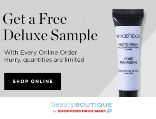 Beauty Boutique Free Deluxe Sample Smashbox Photo Finish Foundation Primer