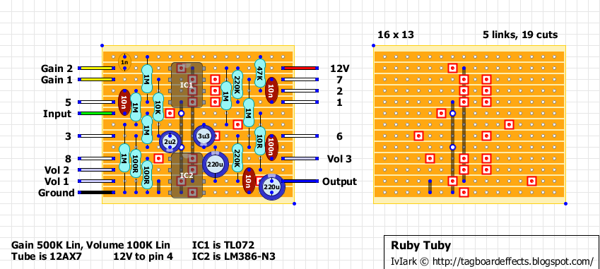 Guitar FX Layouts: Ruby Tuby