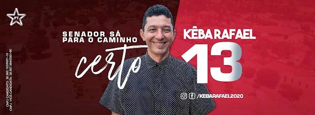 """""""Minha campanha vai ser de propostas e projetos"""" afirma Kêba Rafael, candidato a prefeito de Senador Sá pelo PT."""