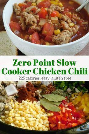 Zero Point Weight Watchers Spicy Chicken Chili