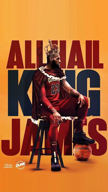 king lebron james wallpaper