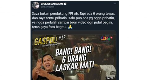 Video Denny Dikritik: 6 Orang Tewas, Kalo Tak Prihatin, Tak Perlulah Bikin Video Begitu