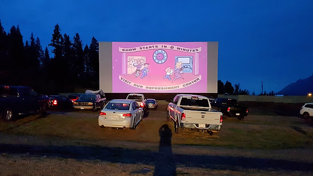 The drive-in theatre at Enderby BC...