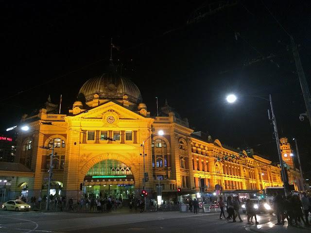 Flinders Street Station Melbourne at Night