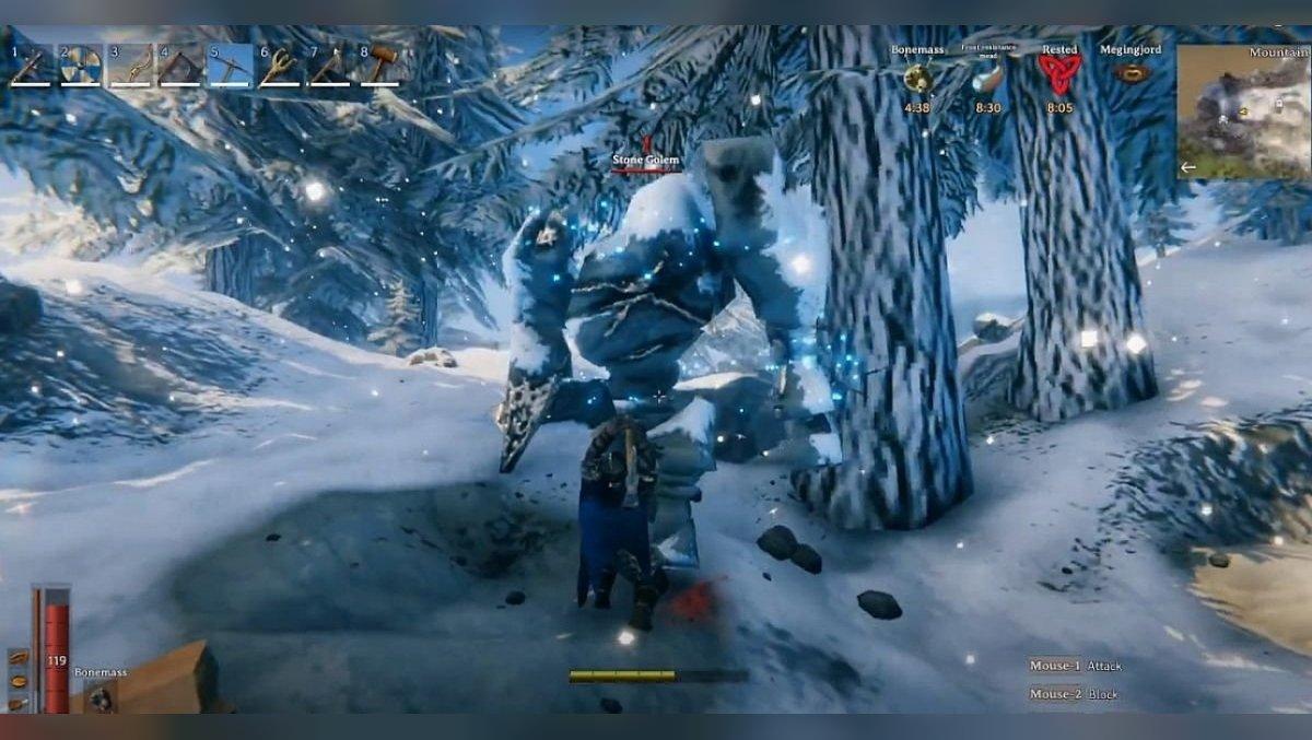 How to defeat stone golems in Valheim. Victory rewards