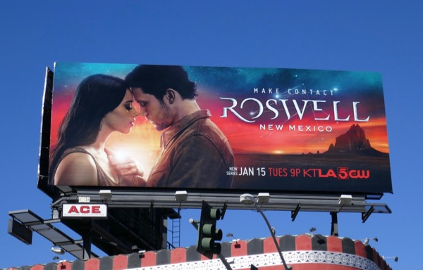 Roswell New Mexico series premiere billboard