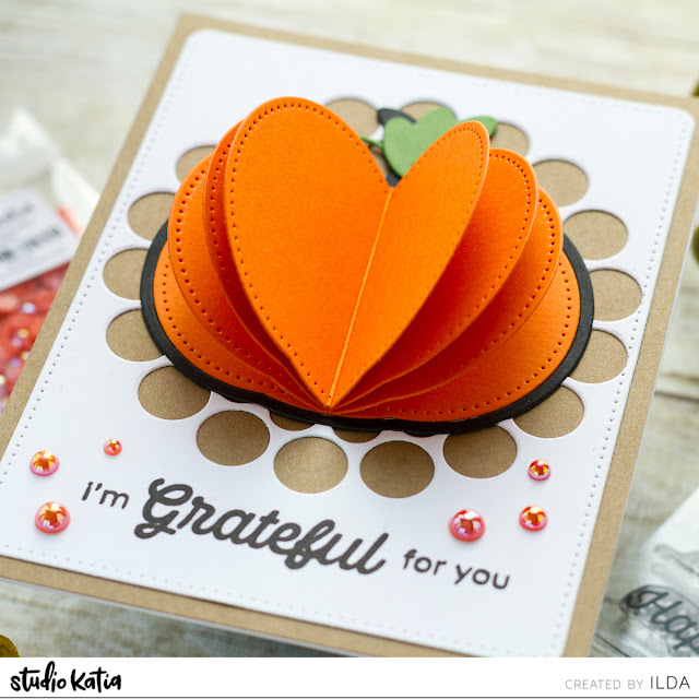 3-D Die Cut Autumn/Thanksgiving Cards | Studio Katia by ilovedoingallthingscrafty.com