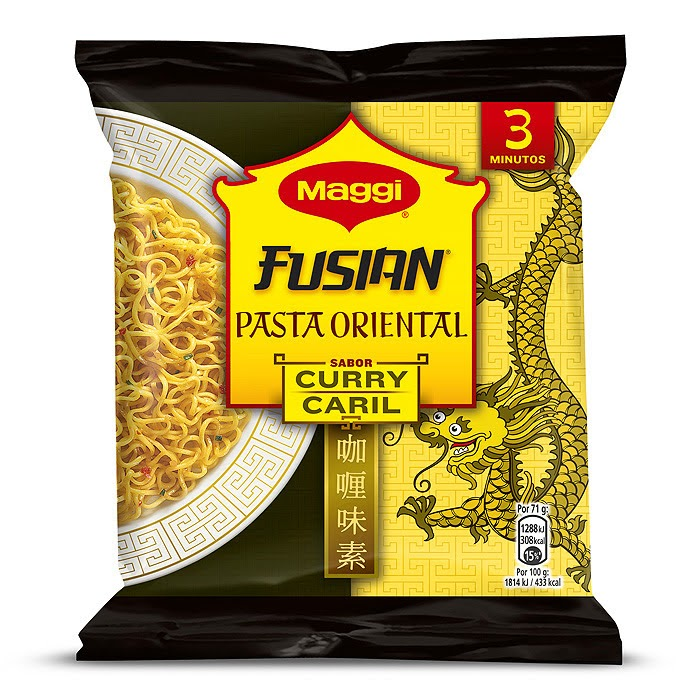 Ingredientes - Maggi Fusian Curry