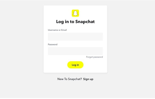 صفحة تسجيل الدخول الى سناب شات