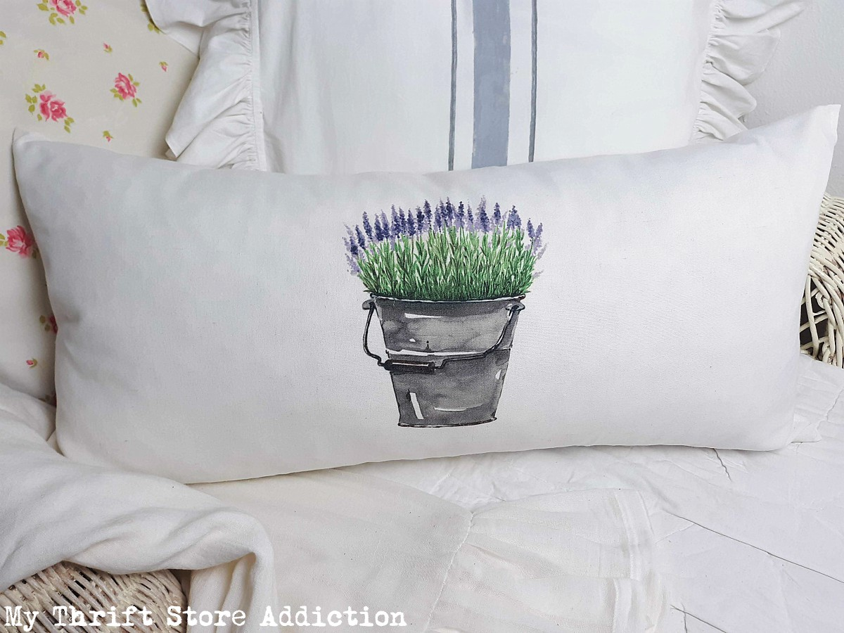 repurposed farmhouse pillow