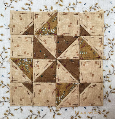 Dear Jane Quilt - Block A1 Pinwheel Gone Awry