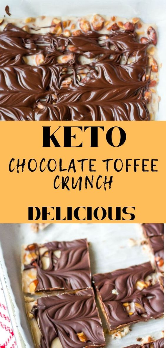 Keto Chocolate Toffee Crunch