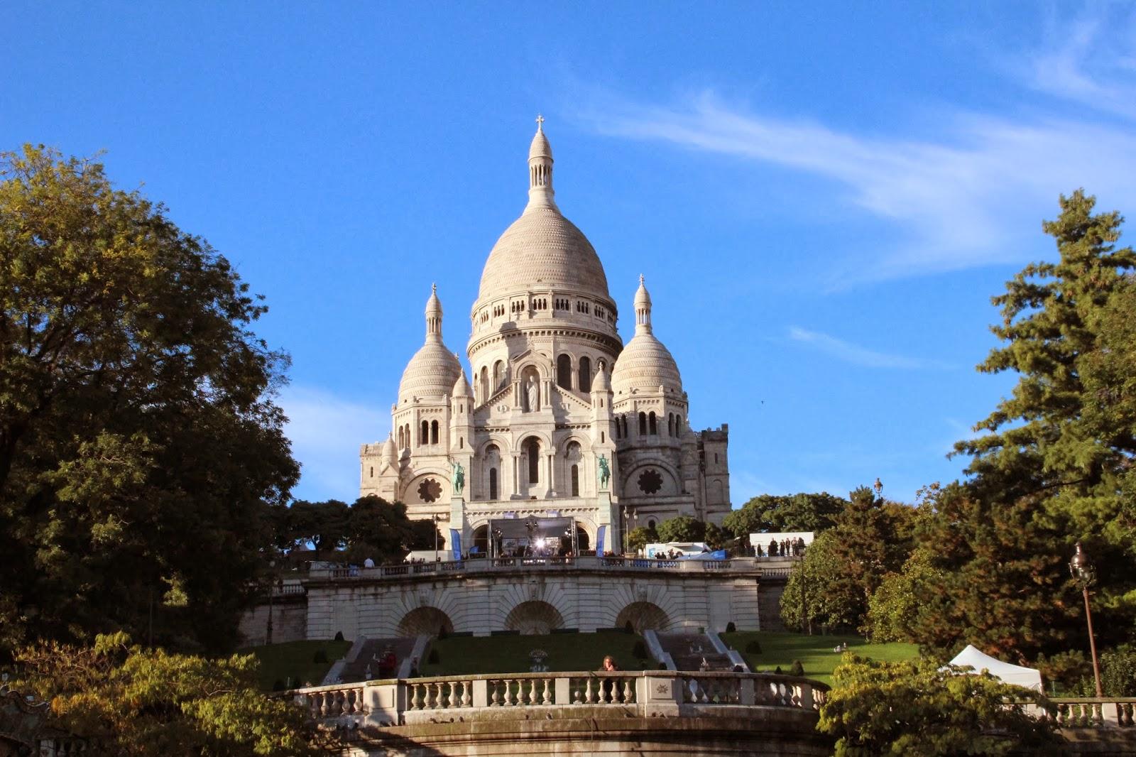 Basílica Sacre Coeur en Montmartre. Paris